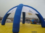 Inflatable spider tent dome from manufacture