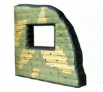 paintball bunker ruin window wall