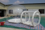 transparent inflatable beach sunset and camping clear dome inflatable tent