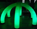 Mobile inflatable decoration light archway