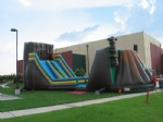 Zip Line Obstacle course inflatable for event party rental