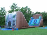 Dry Gulch Zipline--mobile inflatable zip line for sale