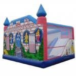 princess slide inflatable combo with hoop