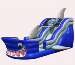 2012 new shark attack inflatable slide