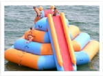 inflatable wet slide with climbing