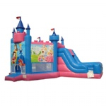 Princess Inflatable Bouncer Castle with Slide