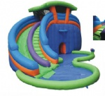 SL-092-commercial inflatable slide with water pool for summer holiday party