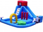 cheap inflatable splash water slide for commercial inflatable rental