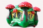 lovely mushroom inflatable bouncy house for kids birthday party