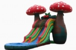inflatable mushroom large inflatable slide with pool