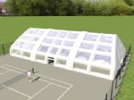 white large outdoor portable air tight inflatable tennis enclosure