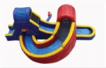 U turn huge double inflatable Water slide with a twist