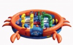 crab shape inflatable trottie playground with for kids party rental