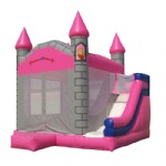 princess inflatable castles combo Size