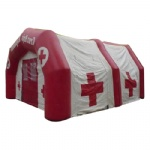air tighted inflatable red cross tent