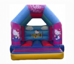 cheap lovely hello kitty inflatable bouncy house for kids party rental