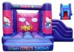pink hello kitty bounce house with slide for kids birthday party