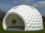 white air structure inflatable dome tent with windows for party event