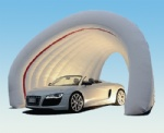 white double layer inflatable car garage tent for car show