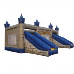 inflatable castles with two slide