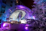 huge size inflatable bubble snow globe portable bar dome