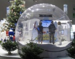 Merry Christmas inflatable bubble life size snow globe for advertising