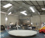 huge clear Christmas inflatable bubble dome for car show advertising