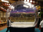 transparent life size snow dome for Christmas party event