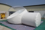 IT-200-half transparent inflatable dome tent for lawn camping and sight-seeing