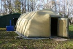 cold resistant inflatable air tight tent for out door work in cold weather