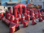 inflatable bunkers field for 10 man paintball game