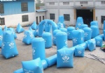 10 man paintball bunker inflatable from manufacture