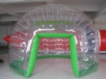 Double layer airtight inflatable clear dome tent
