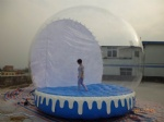 clear snow globe with air mat