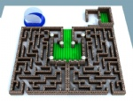 Mobile Giant inflatable maze race game