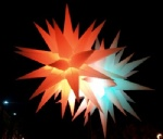 3ft diamater inflatable spikey stars