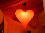valentines day inflatable heart decoration light